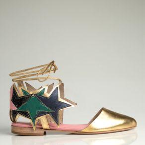 Sapatilha Stars Dourada 34