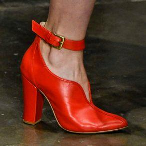 Ankle Boot Spfw Vermelha 39