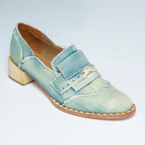 Mocassim Masson Jeans Azul Claro 40